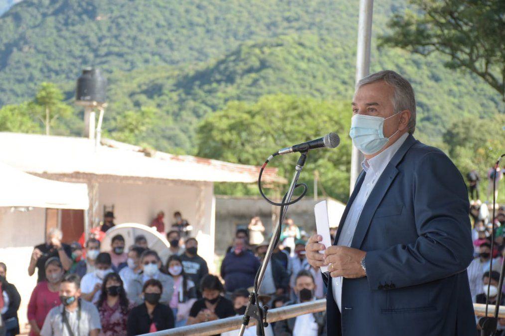 Gerardo Morales entregó equipamiento a productores y productoras de las Yungas.