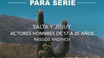 Buscan hombre joven de rasgos andinos para serie