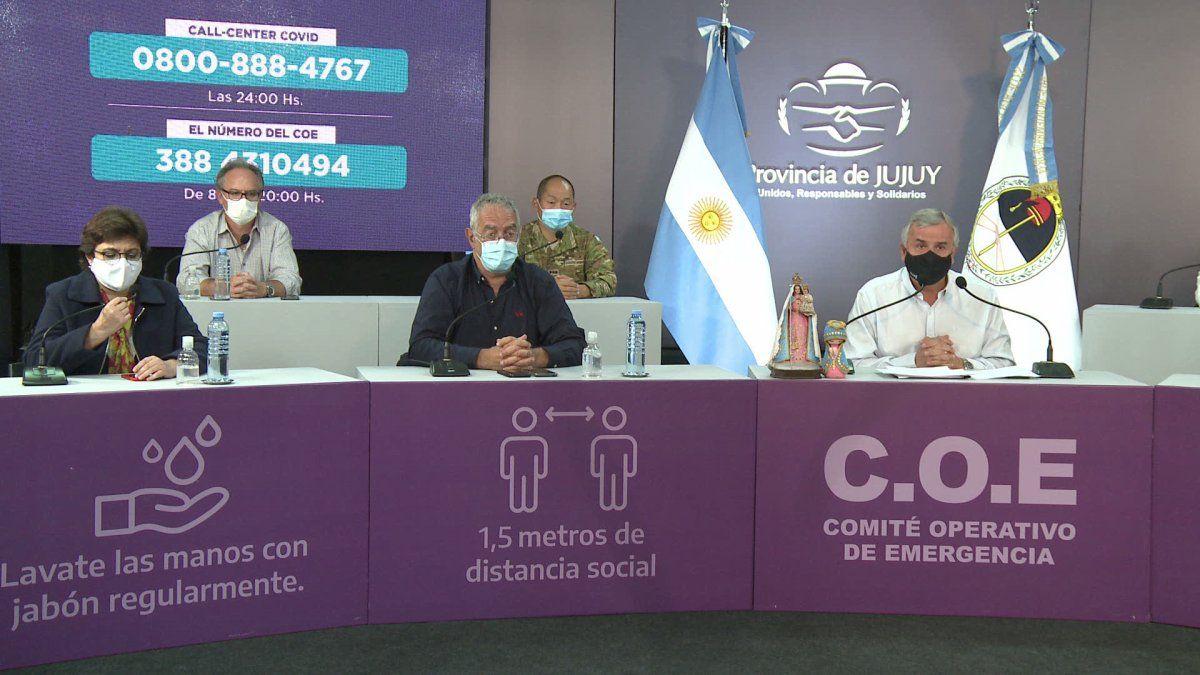 El gobernador Gerardo Morales encabezó un nuevo reporte del COE.