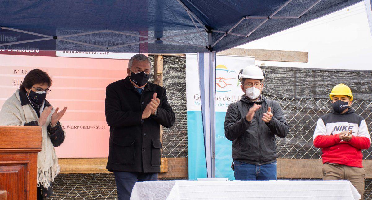 Morales puso en marcha la construcción del edificio para la Escuela Profesional N° 10