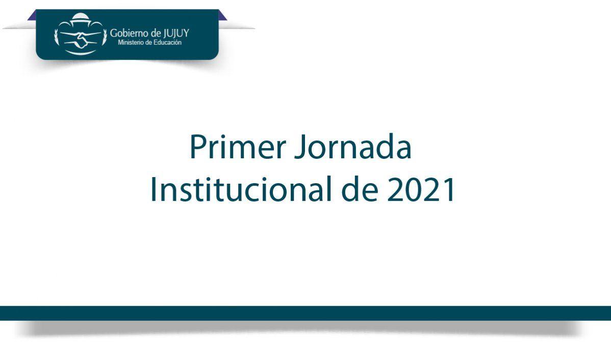 Primera Jornada Institucional