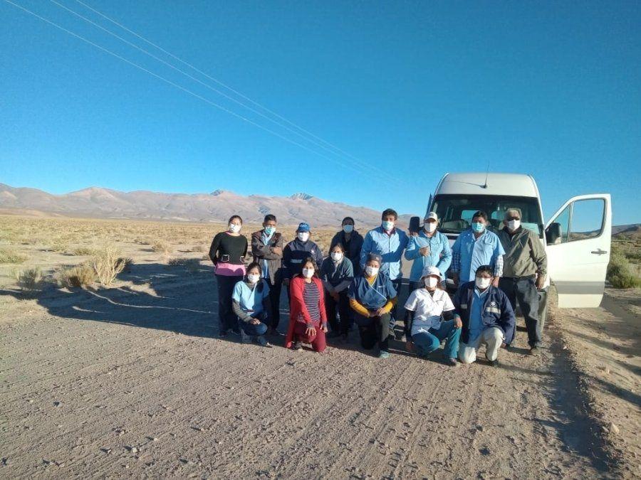 Rastrillaje sanitario se desplegó en Susques, Huancar, Pastos Chicos, El Moreno y Lipán