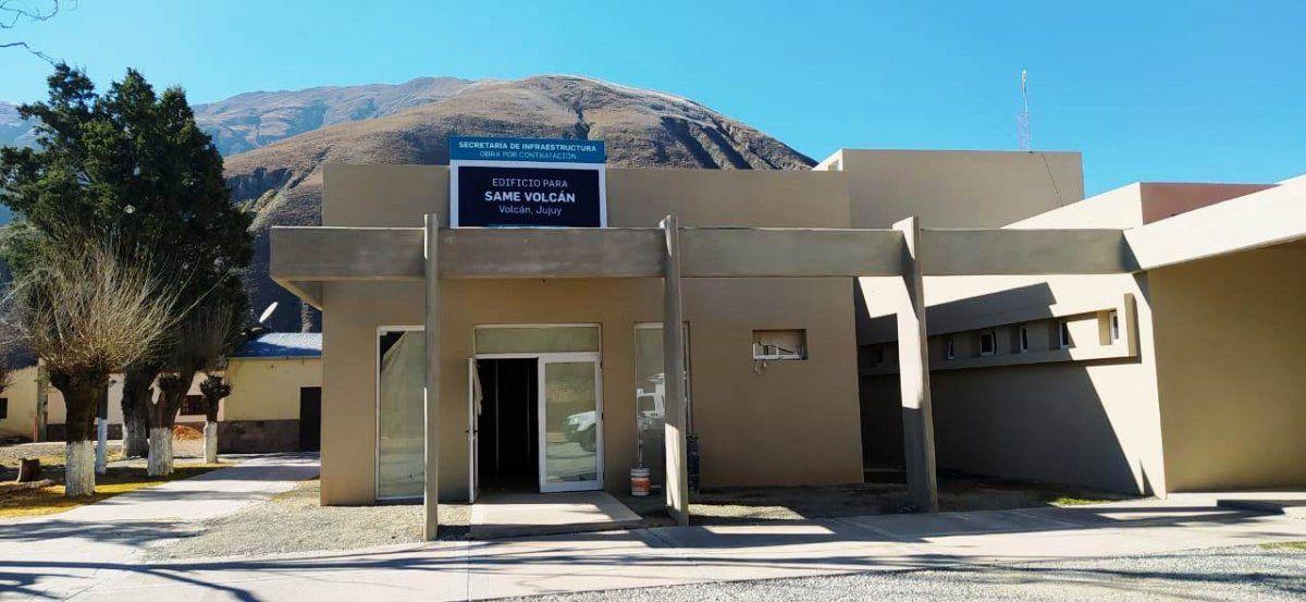 Las obras de nuevo edificio para SAME TUmbaya en Volcán se emplazan contiguas al nuevo puesto de salud.