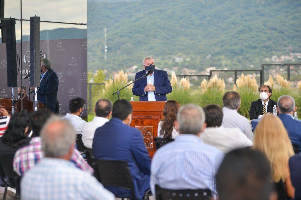 El Gobernador Gerardo Morales encabezó el acto de firma de las correspondientes actas en la Ciudad Cultural.