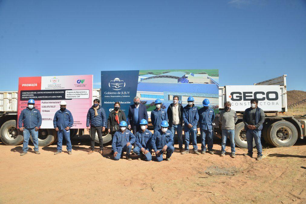 Morales puso en marcha la construcción del edificio de la Agrotécnica de Abra Pampa