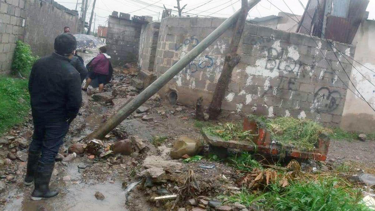 Relevamiento de familias afectadas por las fuertes lluvias por parte de Desarrollo Humano