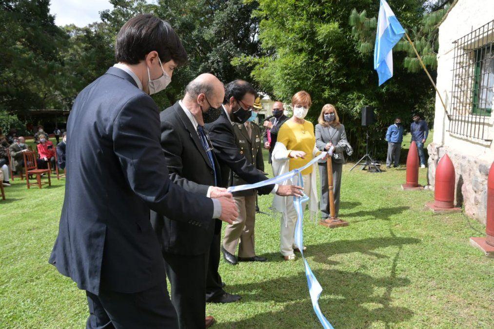 Las autoridades durante el corte de cintas del flamante museo