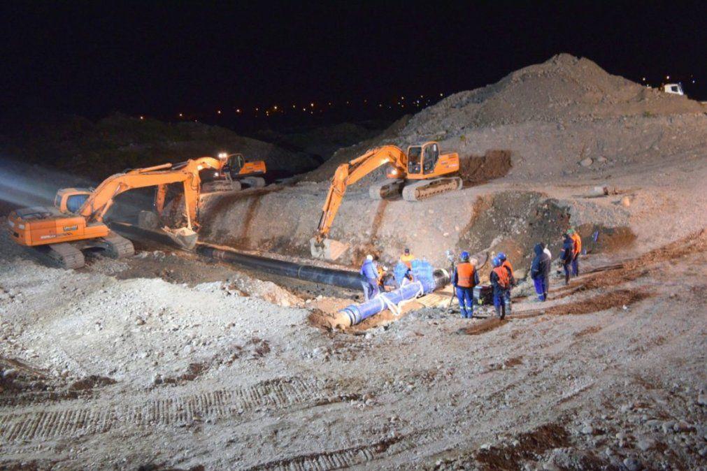 Agua Potable culminó exitosamente la obra by pass de emergencia y nuevo acueducto de refuerzo cruce Rio Grande