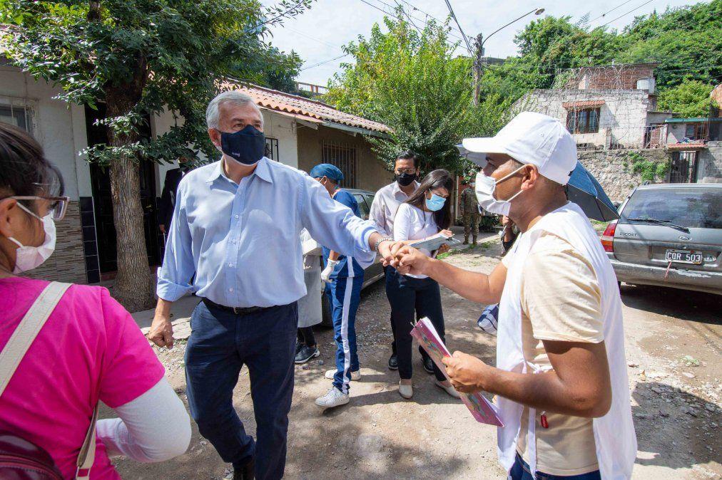 Operativo de rastrillaje sanitario en barrios de la Capital