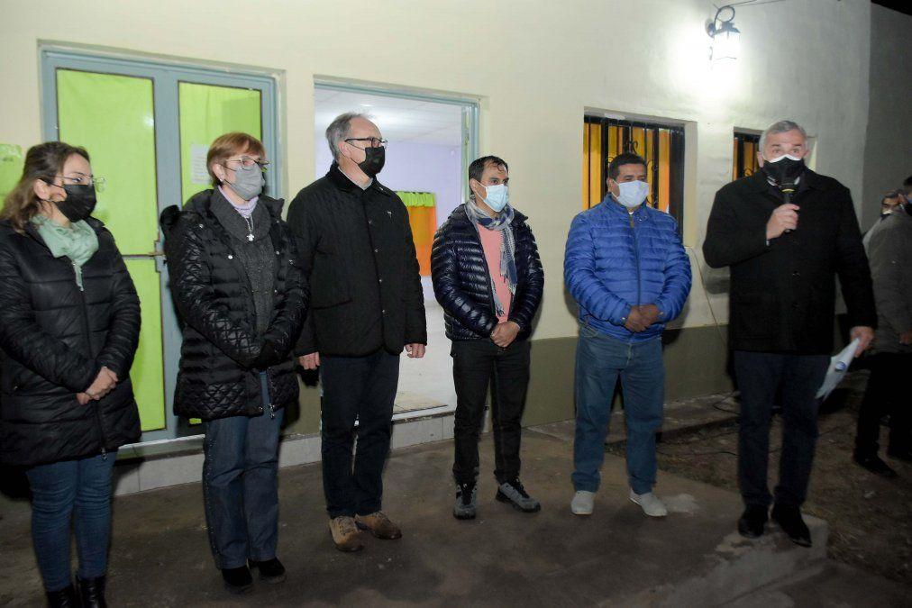 Morales inauguró obras en Barro Negro