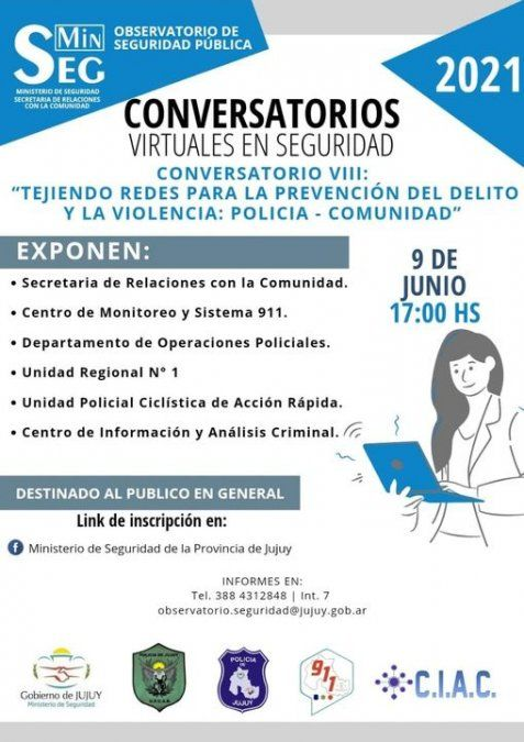 Último Conversatorio Virtual de Seguridad sobre prevención del delito y violencia