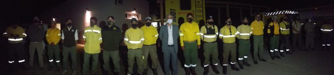 Brigadistas de Jujuy viajan a Río Negro para combatir los distintos focos