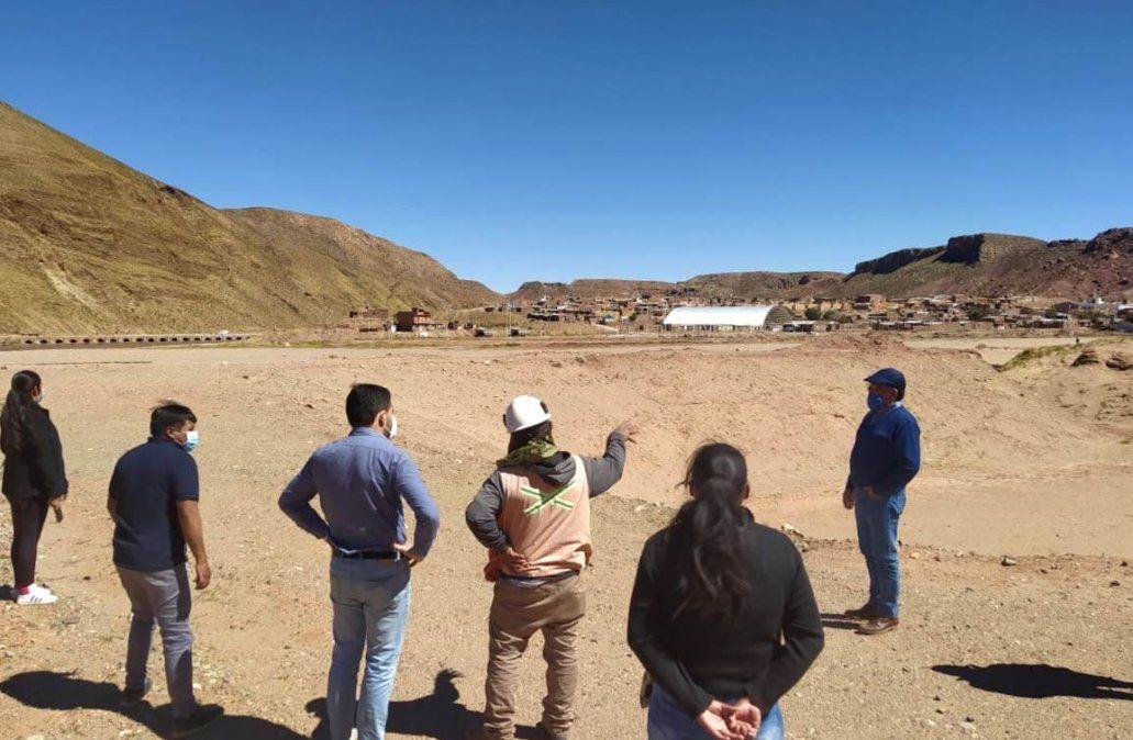 Las obras para la Planta para saneamiento cloacal en Susques se reactivan.