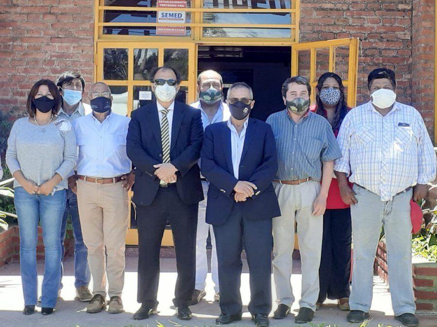 El ministro de Trabajo y Empleo visitó la Agrotécnica Ricardo Hueda