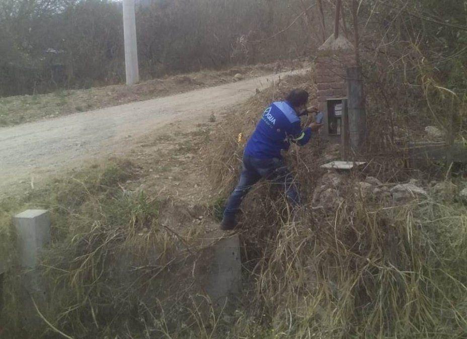 Dañan y roban instalaciones de Agua Potable en Barrio Quebrada de los Pájaros