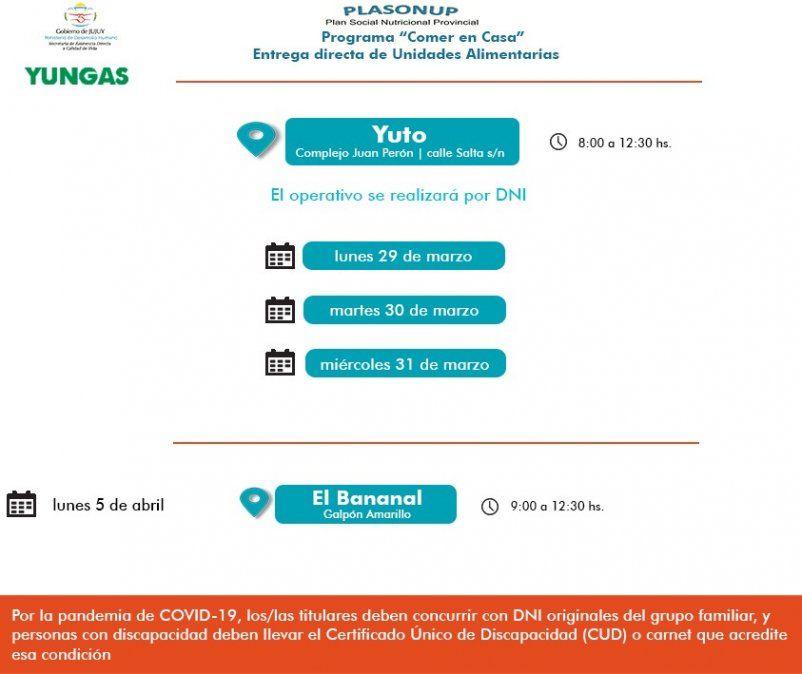Entregarán Unidades Alimentarias en Yuto y Libertador