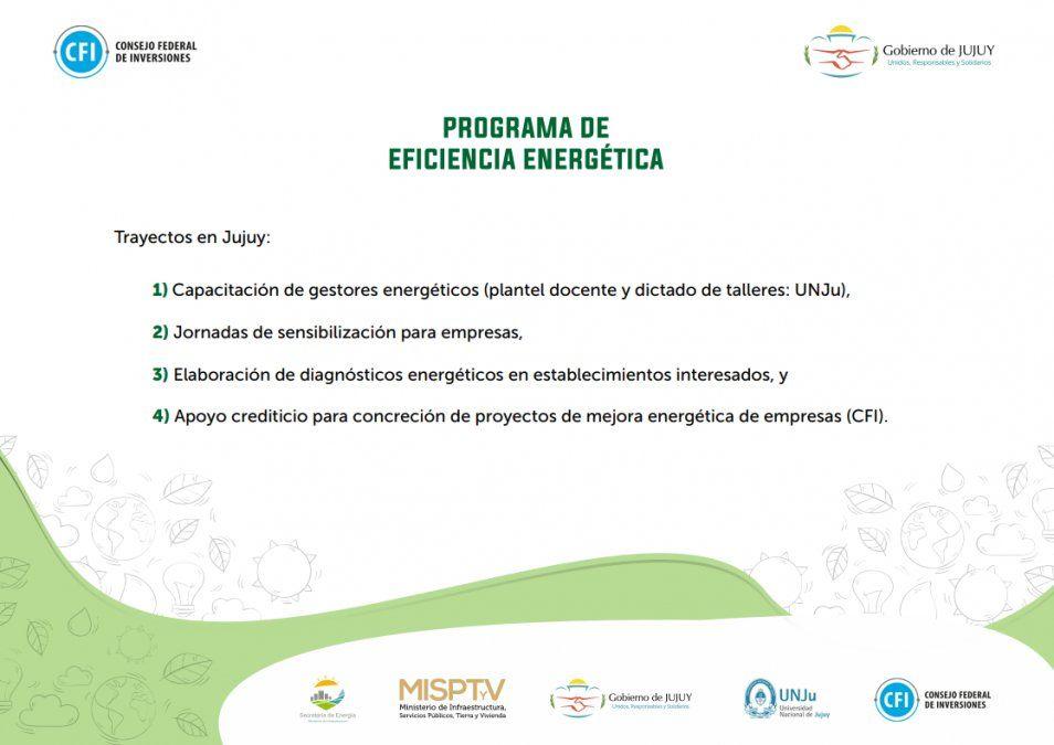 Trayecto del Programa de Eficiencia Energética en la provincia de Jujuy.