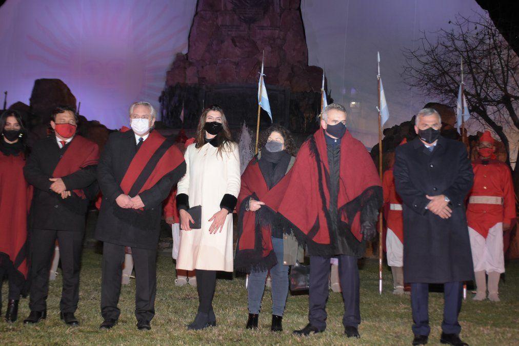 Morales acompañó al presidente Fernández en homenaje a Güemes