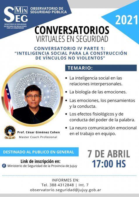 Conversatorio: Inteligencia Social para la construcción de vínculos no violentos